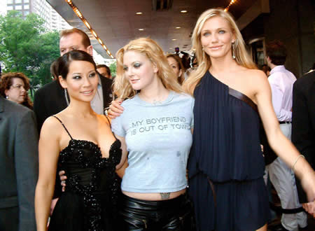 "I should point out that Drew Barrymore wore a t-shirt that read ""My"