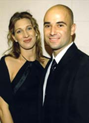 Andre Agassi and Steffi Graf, seen here at a recent charity event in ...