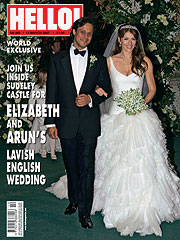concurrerende prijs nieuw sportschoenen Elizabeth and Arun share their beautiful wedding with HELLO!