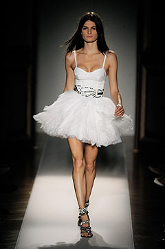 Balmain Spring/Summer 2009 :  luxe white clothing cocktail