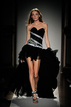 Balmain Spring/Summer 2009 :  black dress style clothing cocktail