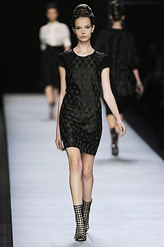 Yves Saint Laurent Spring/Summer 2009 :  black dress clothes style clothing