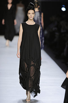 Yves Saint Laurent Spring/Summer 2009 :  chic designer clothing dresses yves saint laurent