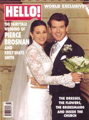 HELLOS PIERCE AND KEELY WEDDING ISSUE HITS NEWSSTANDS