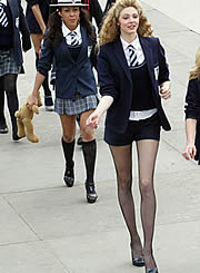 Lily goes back to class for 'St Trinians' movie | 180 x 245 jpeg 11kB