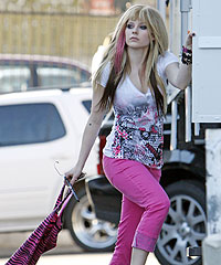 Avril Models Her Abbey Dawn Line In Viper Room Fashion Shoot