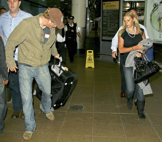 Chelsy Davy At Heathrow Airport Waiting For BF Prince