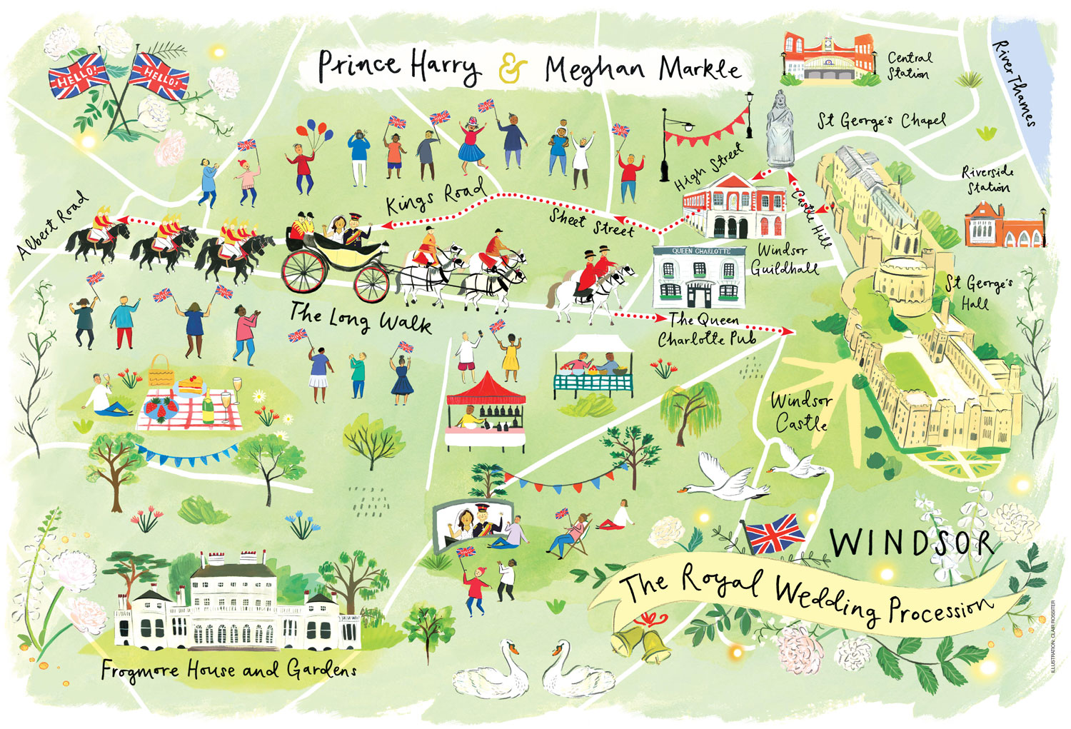 Windsor Castle Map Here's the ultimate royal wedding procession map in Windsor Windsor Castle Map